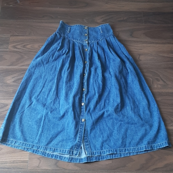 90s denim skirt vintage maxi high waisted